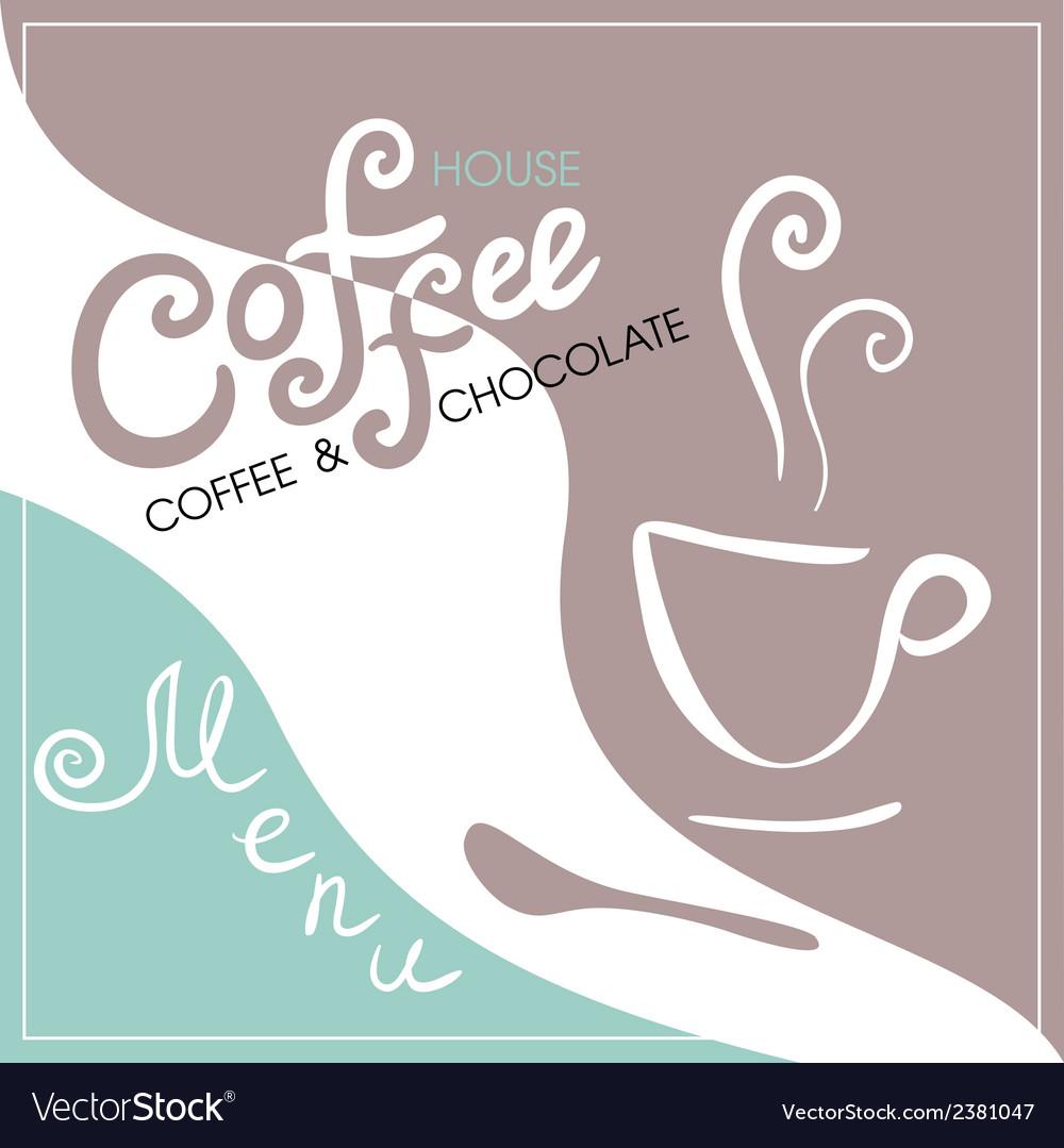 Menu cover for cafe bar coffeehouse