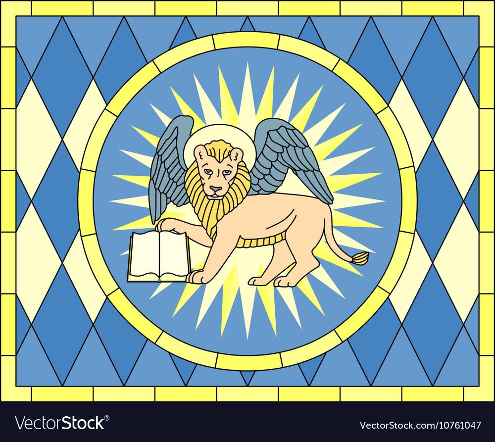 Symbol of Mark the evangelist winged lion vector image