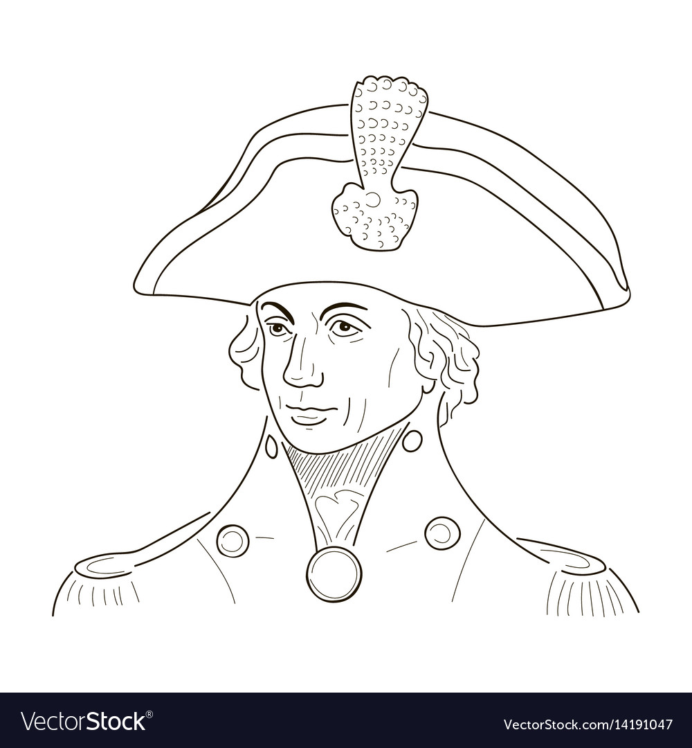 Vice admiral horatio lord nelson sketch vector image