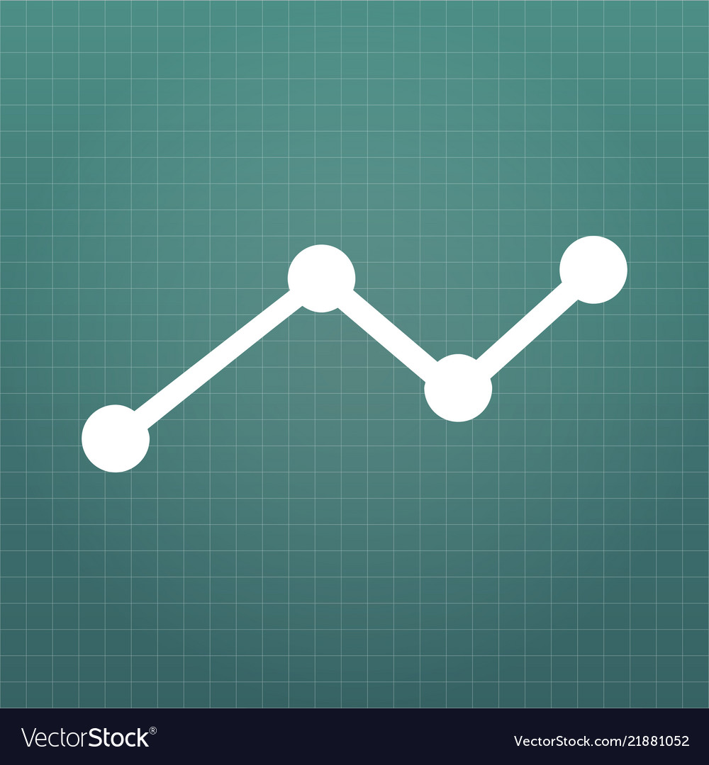 Business graph icon on grid isolated on modern