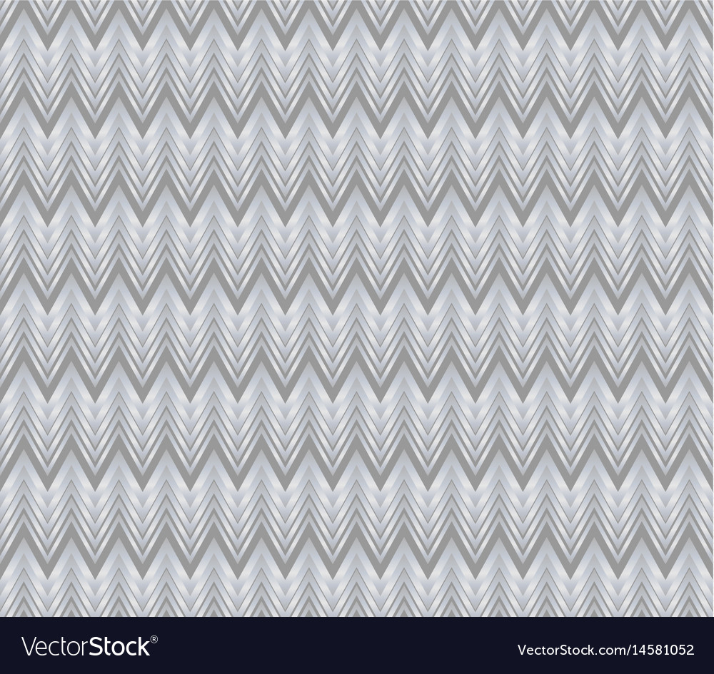 Chevron patterns tile grey and silver design vector image