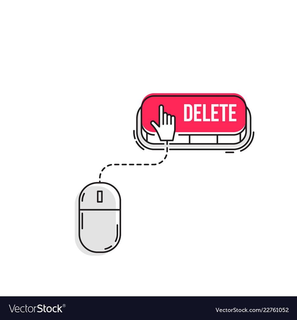 Computer mouse clicks the cursor