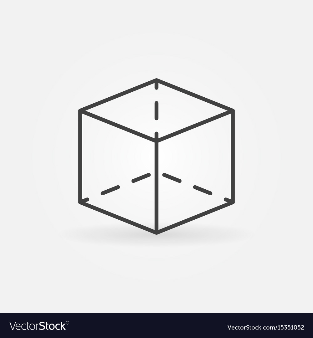 Cube outline icon vector image