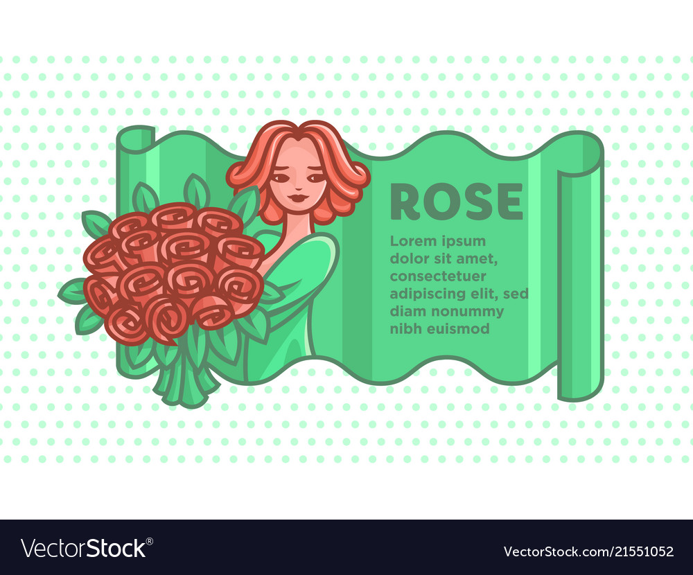 Girl with a big bouquet of roses