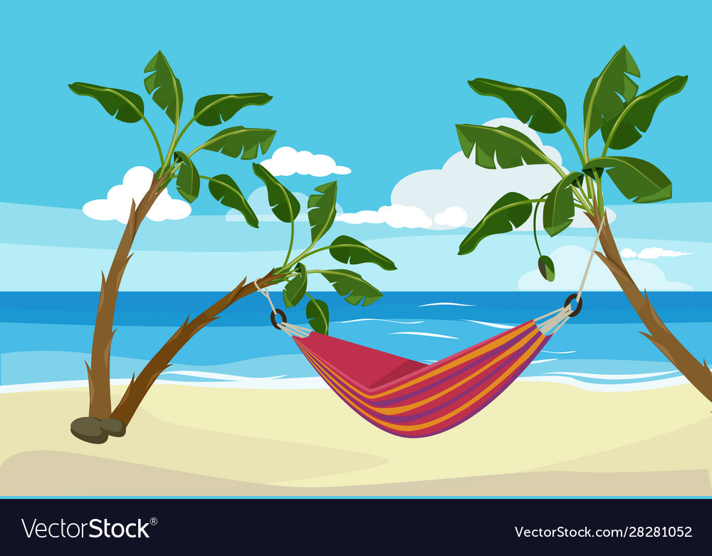 Hammock beach tropical background rest place