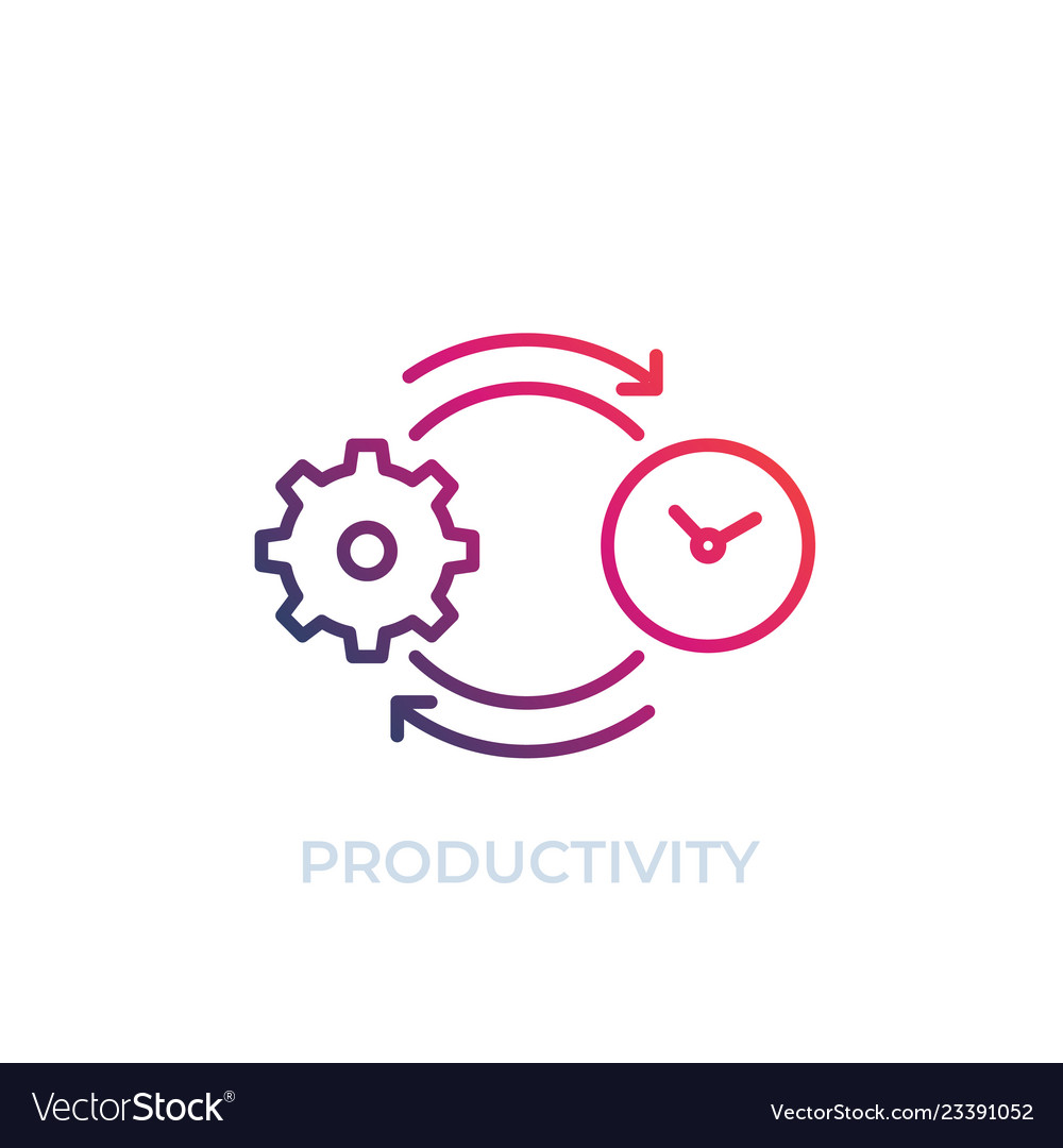 Productivity icon line art