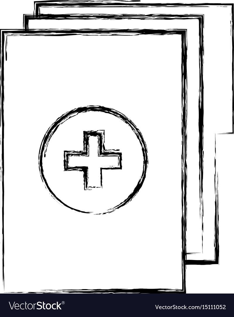 Sketch draw medical history folder