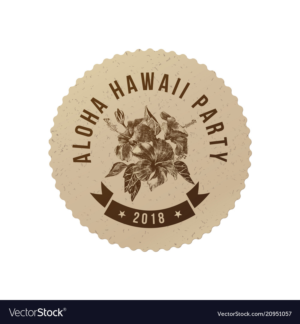Aloha hawaii party poster vector