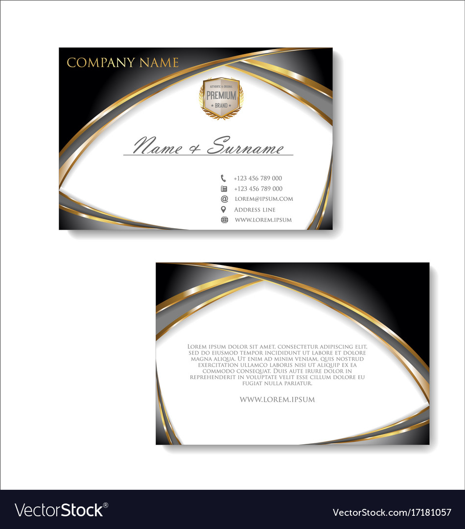 Elegant business card design template 03 vector image colourmoves