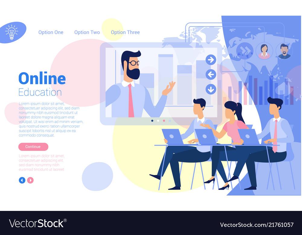 Flat design online education concept
