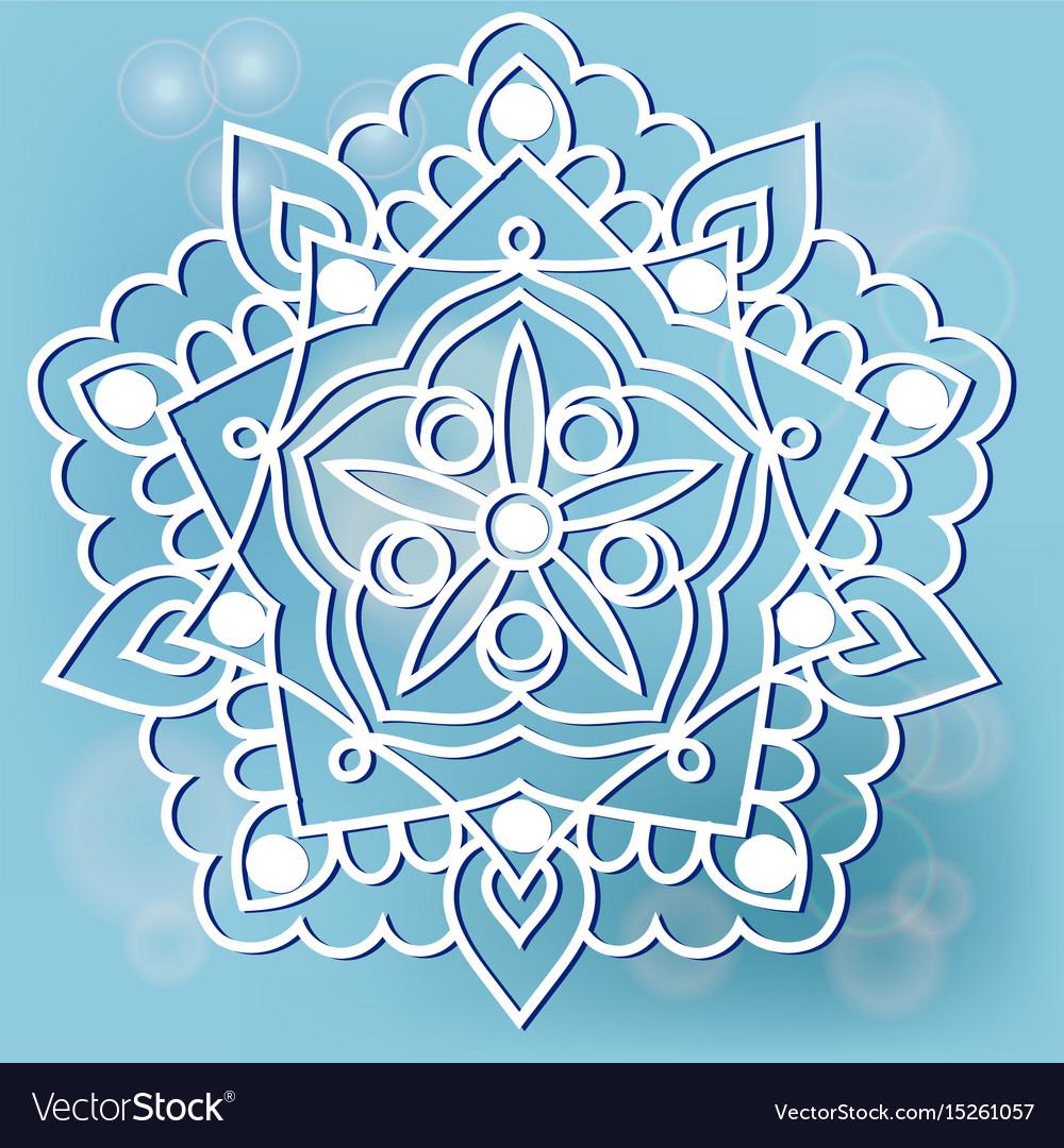 Mandala on the blue background
