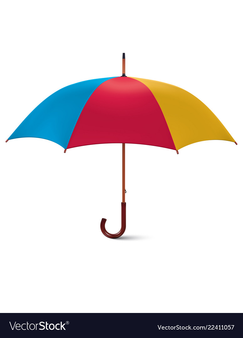 Multicoloured umbrella isolated on white