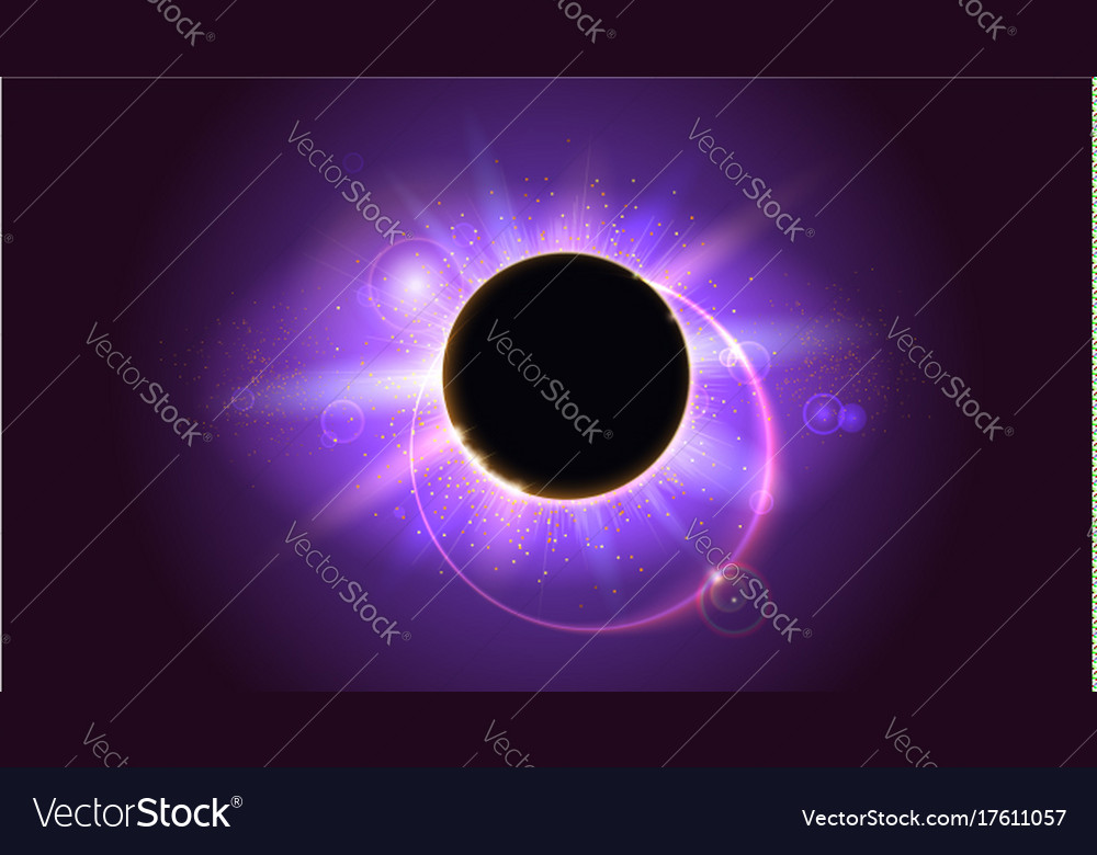 Rays and lens flare light on horizontal background