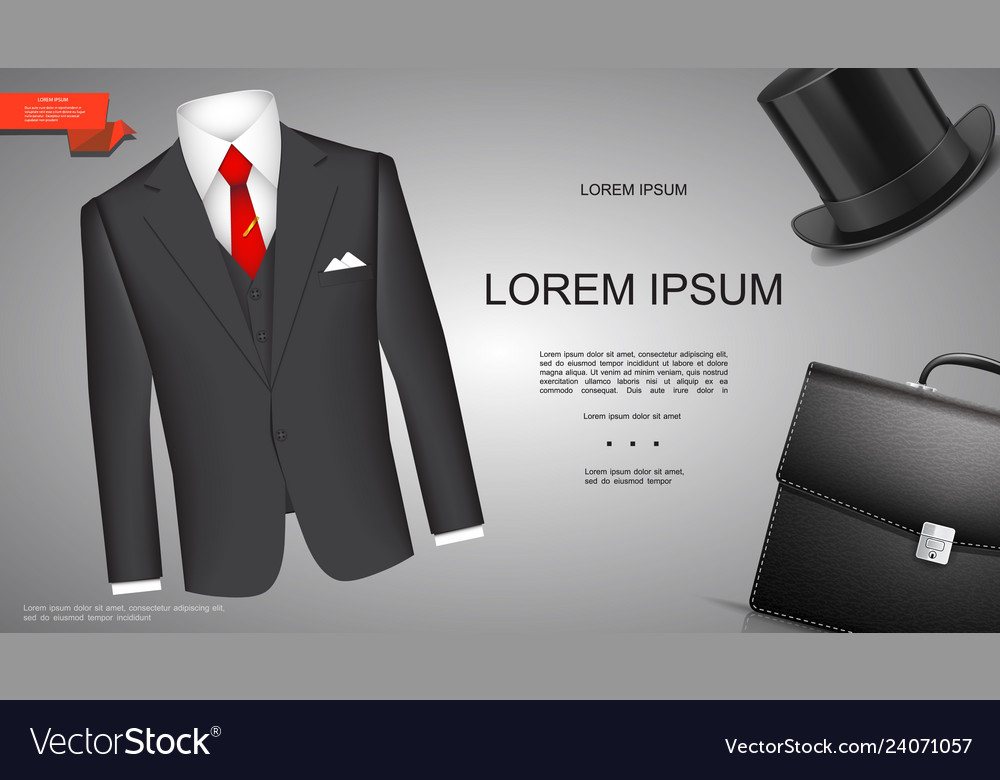 Realistic businessman style template