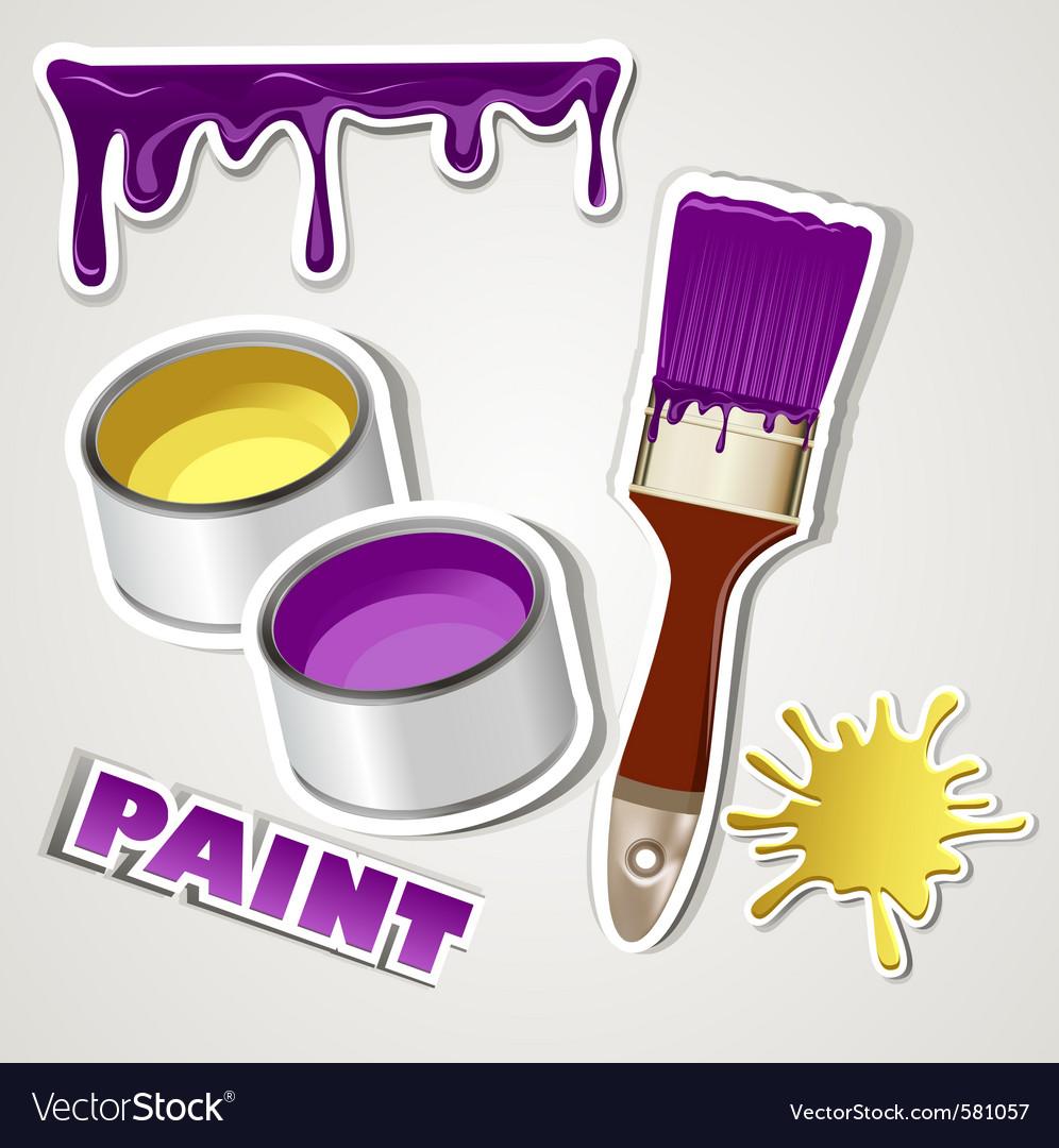 Set sticker paint