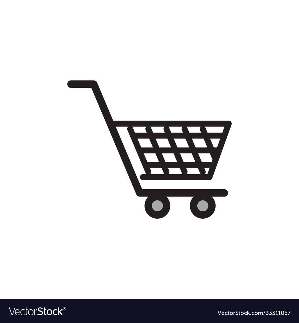 Shopping cart icon design template