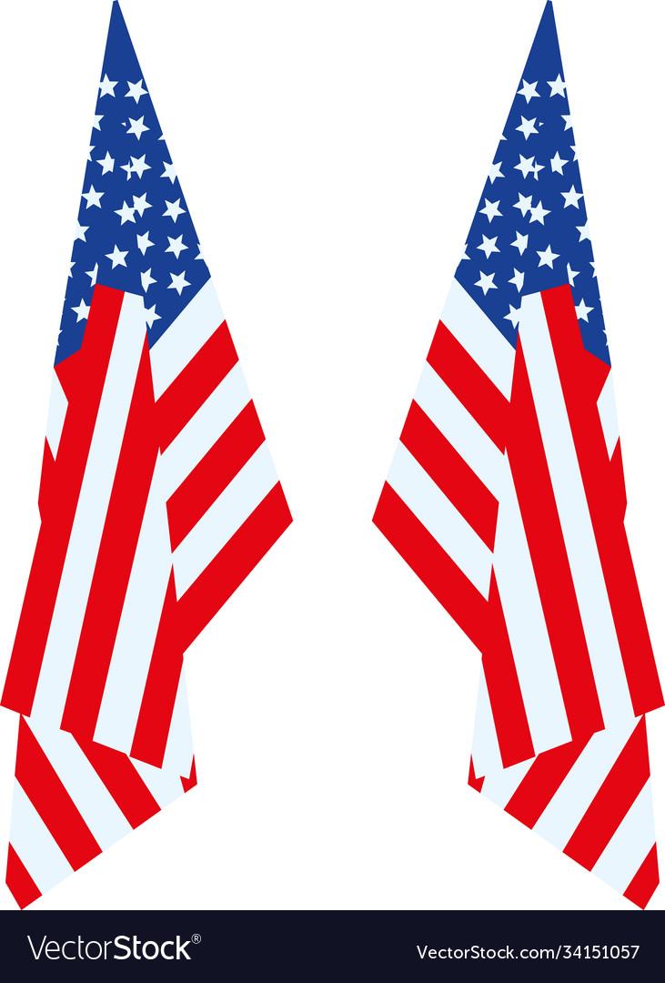 Us flag hang