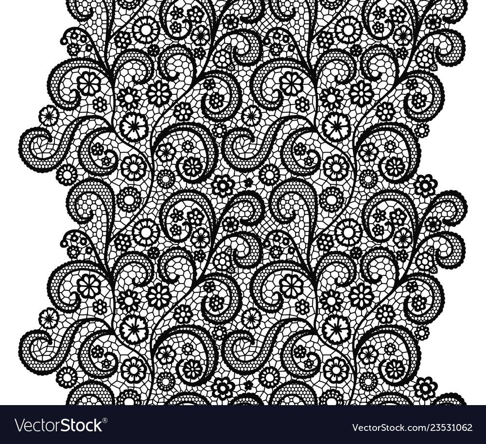 Black lacy vintage elegant trim lacy vintage trim