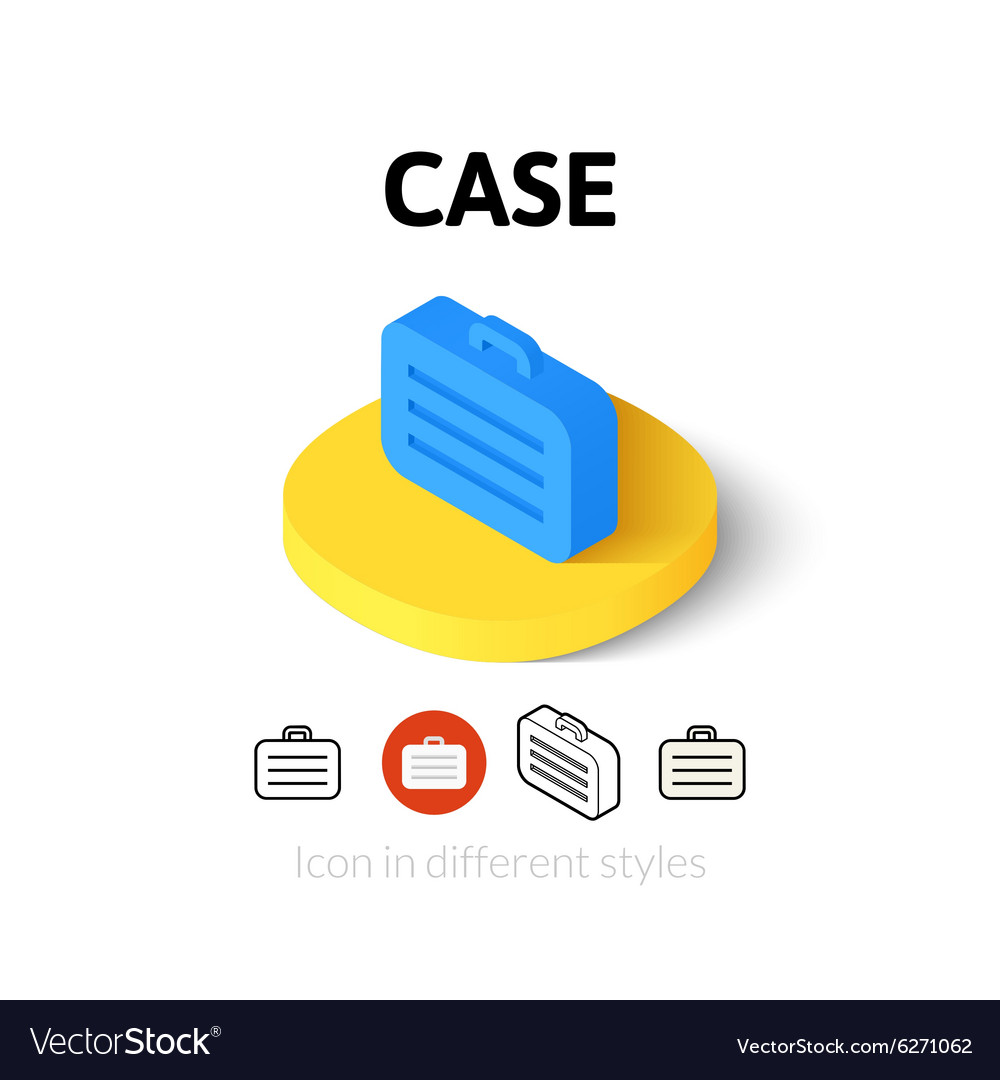 Case icon in different style