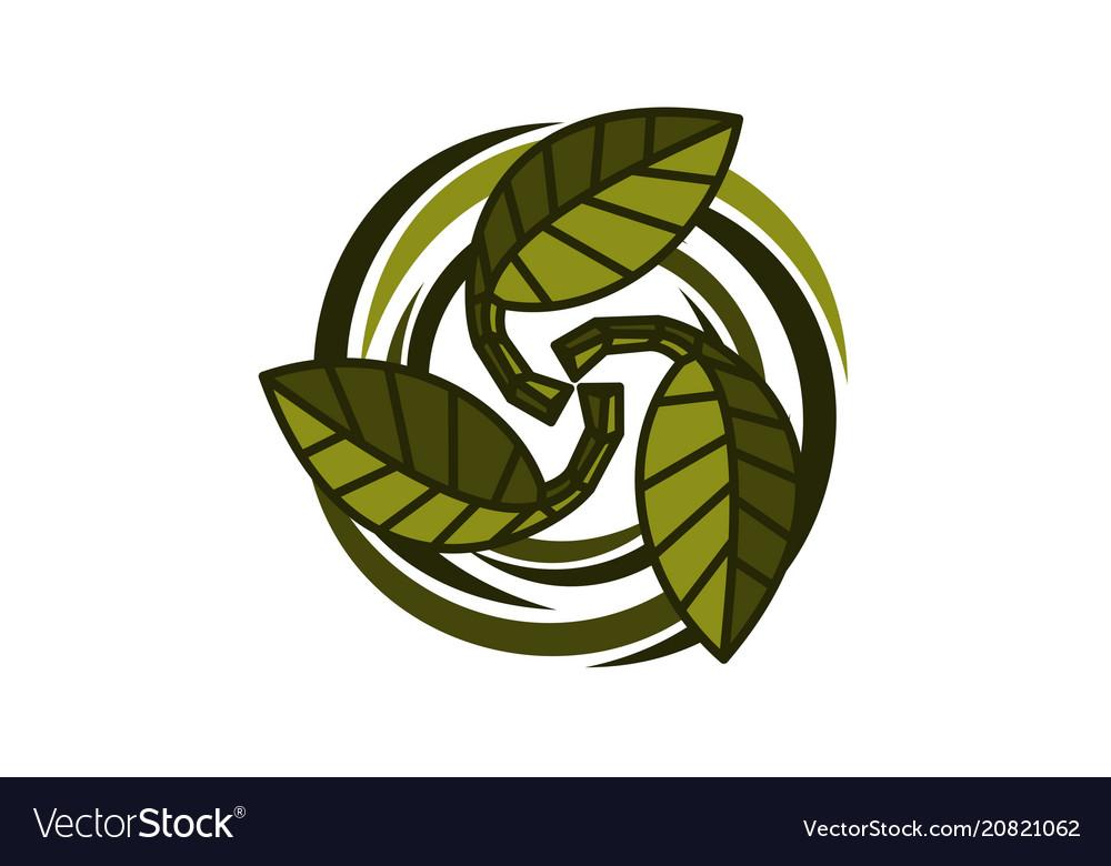 Ecology association logo design template