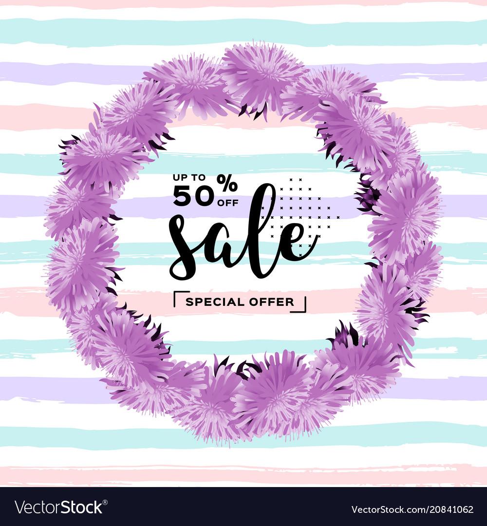 Fashion discount poster summer sale banner