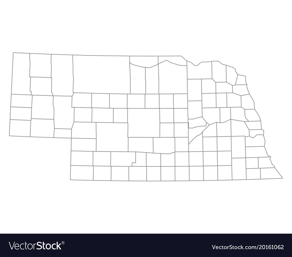 Free Nebraska Map.Map Of Nebraska Royalty Free Vector Image Vectorstock