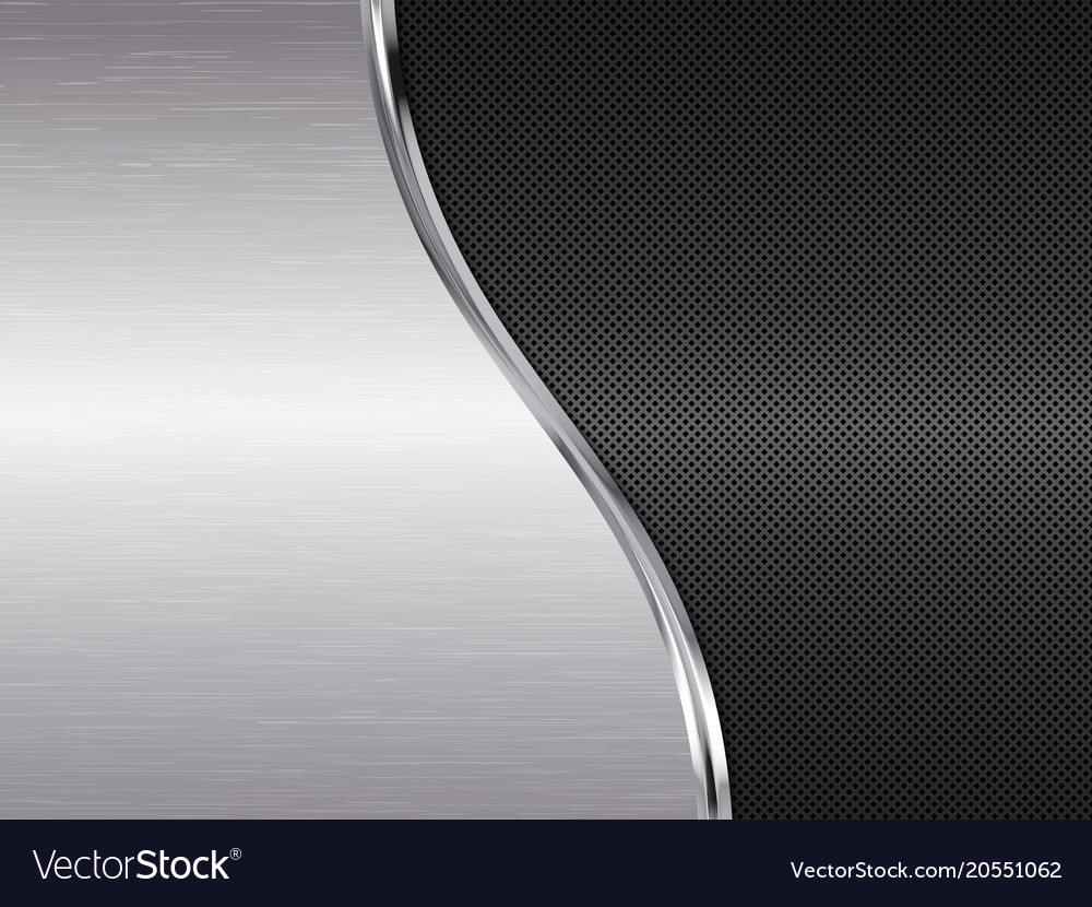 Silver and black metallic background Royalty Free Vector