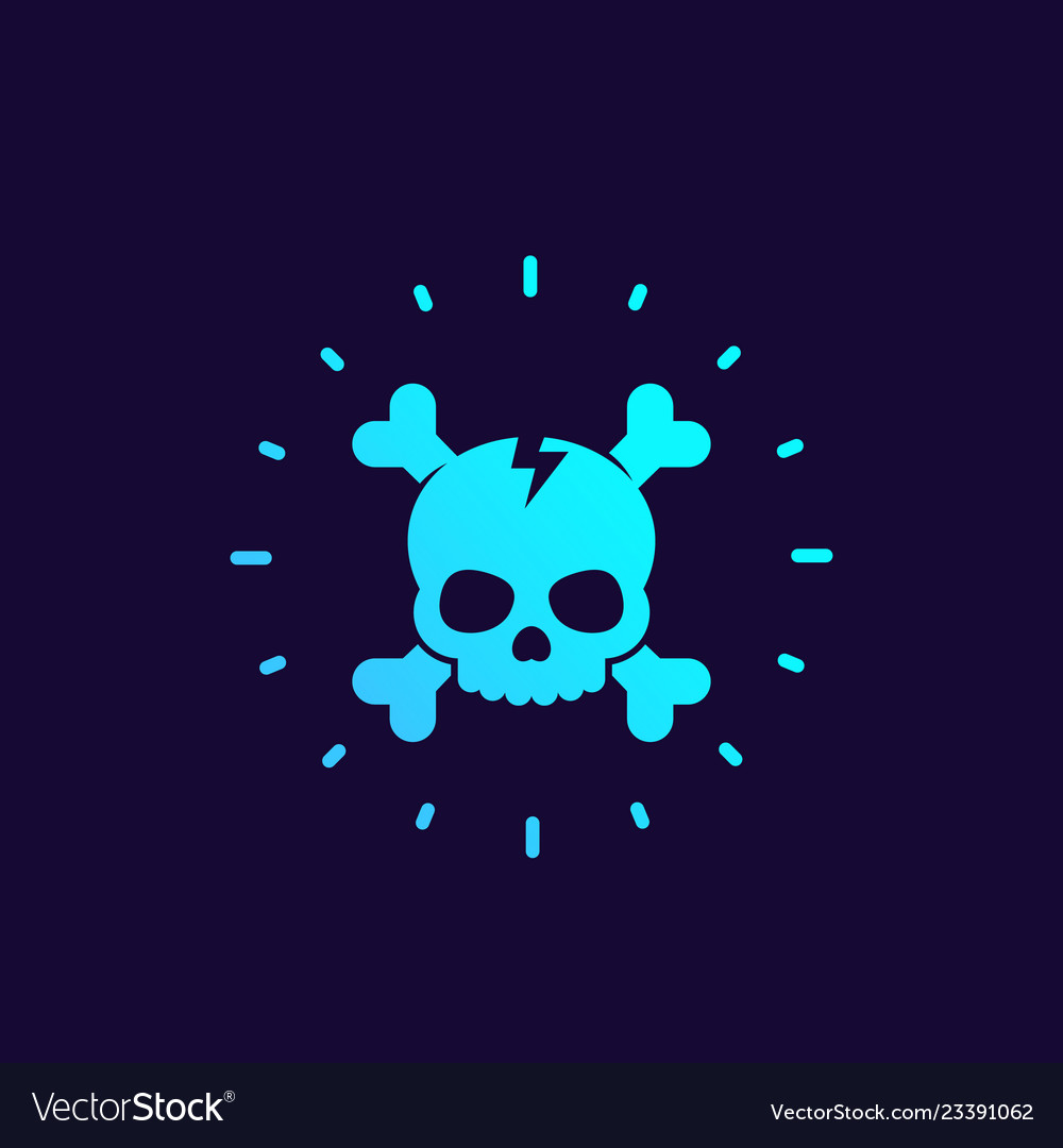 Skull and bones logo design