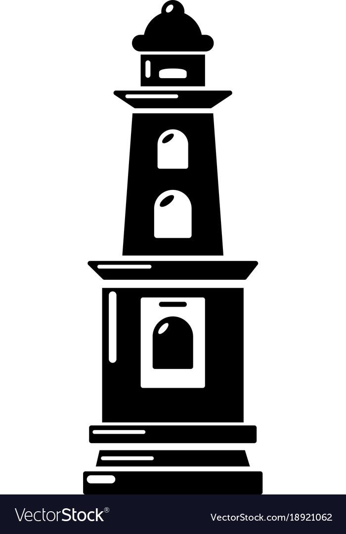 Warning light icon simple style