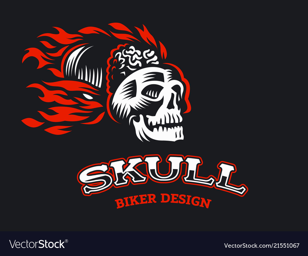 A skull with a fire
