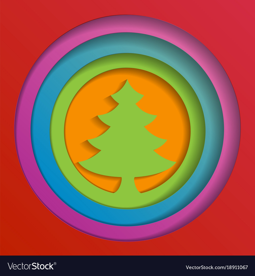 Creative paper abstract christmas tree background
