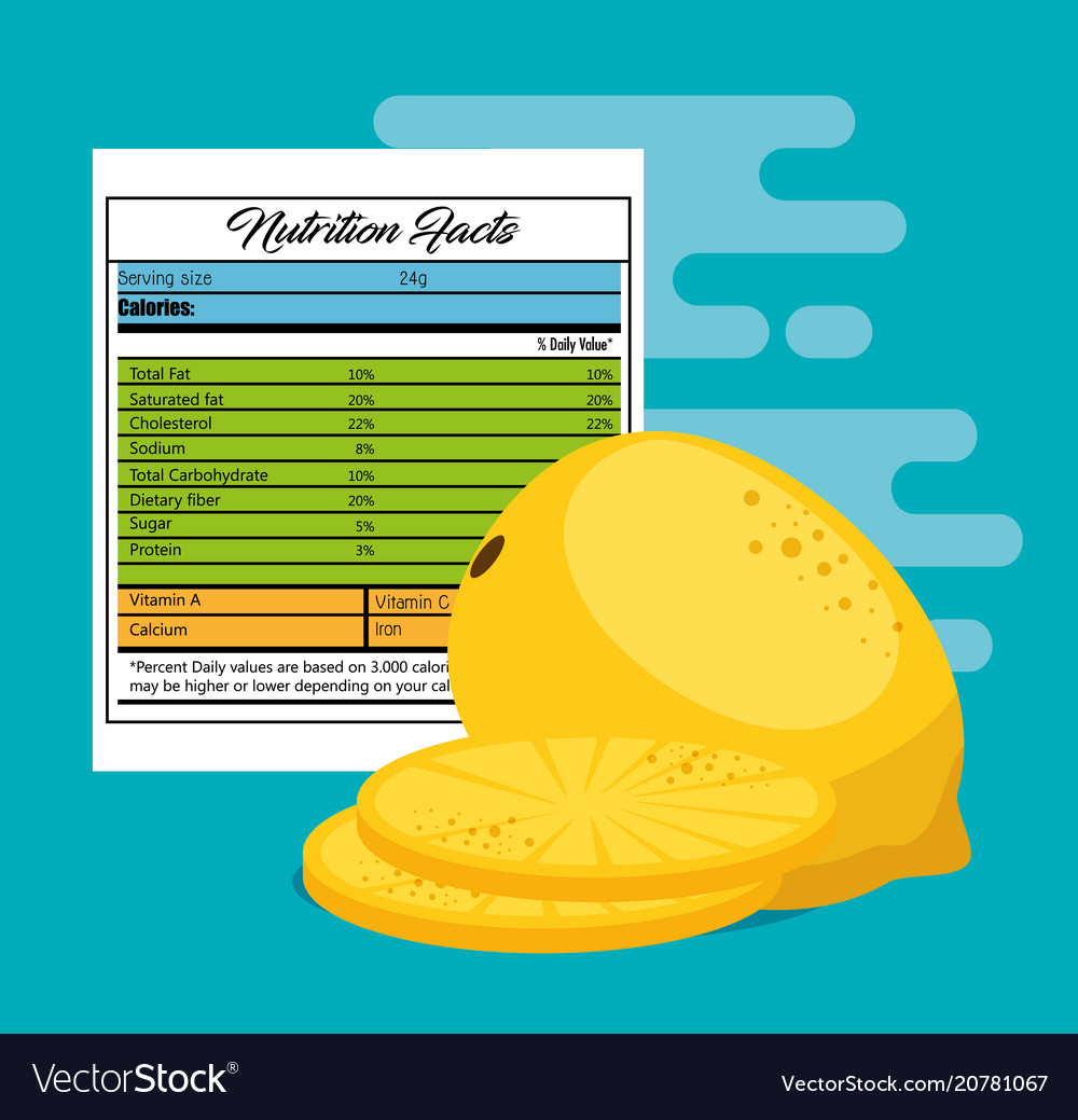 nutrition facts Royalty Free Vector Image