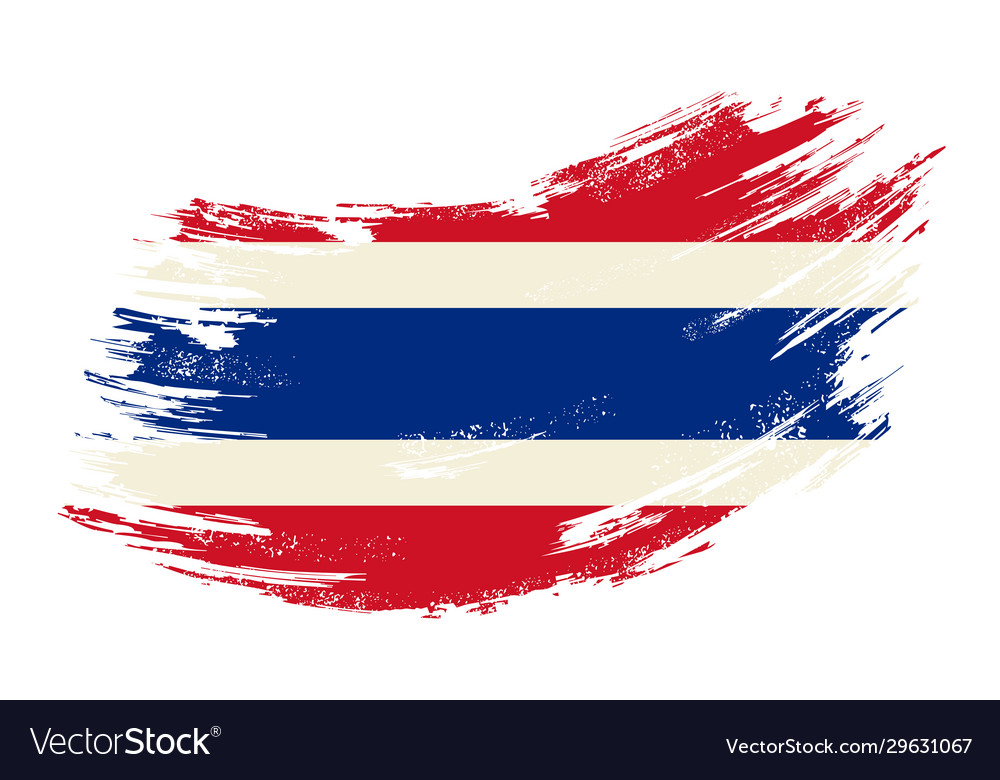 Thai flag grunge brush background