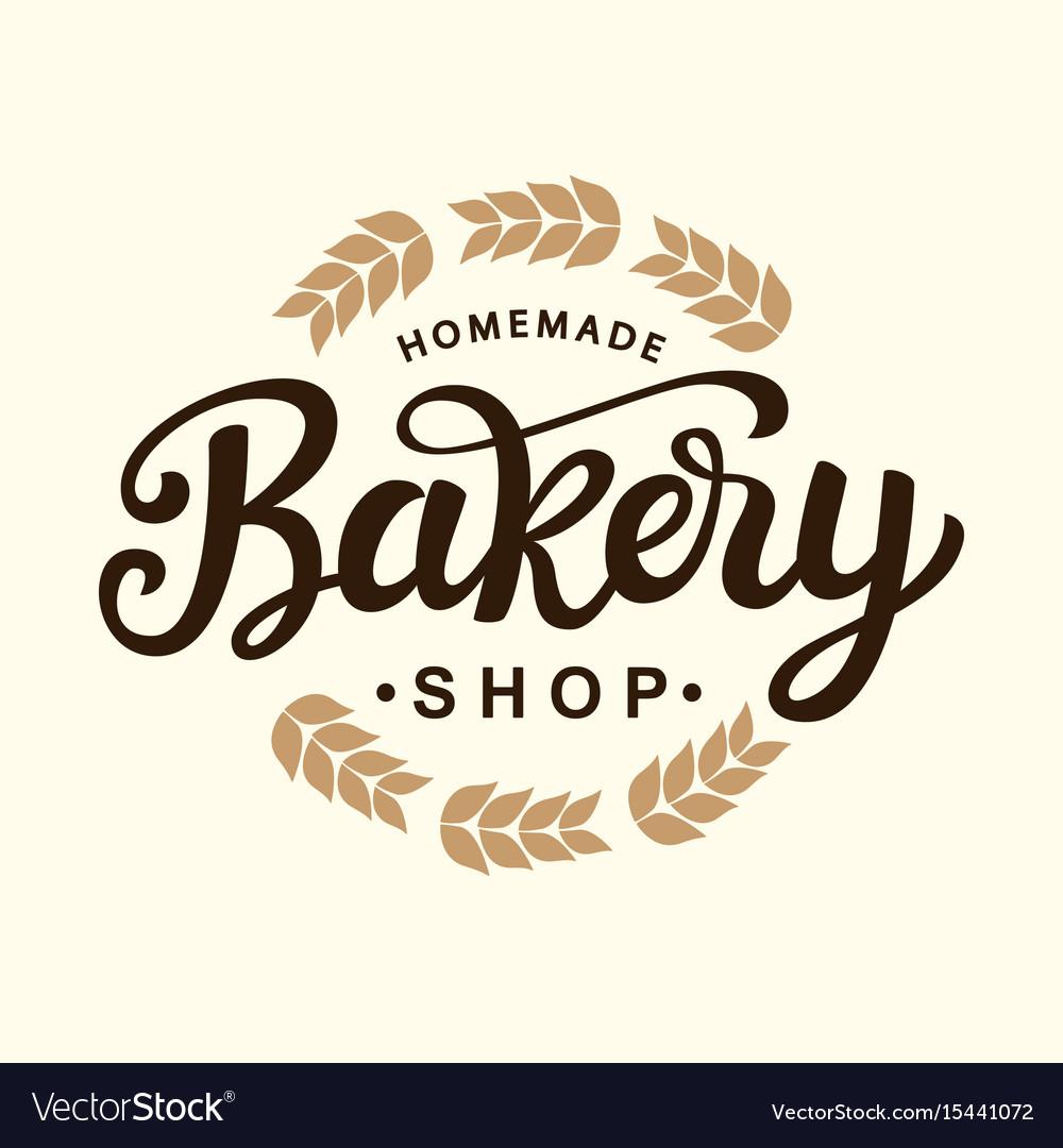 Bakery logo template design Royalty Free Vector Image
