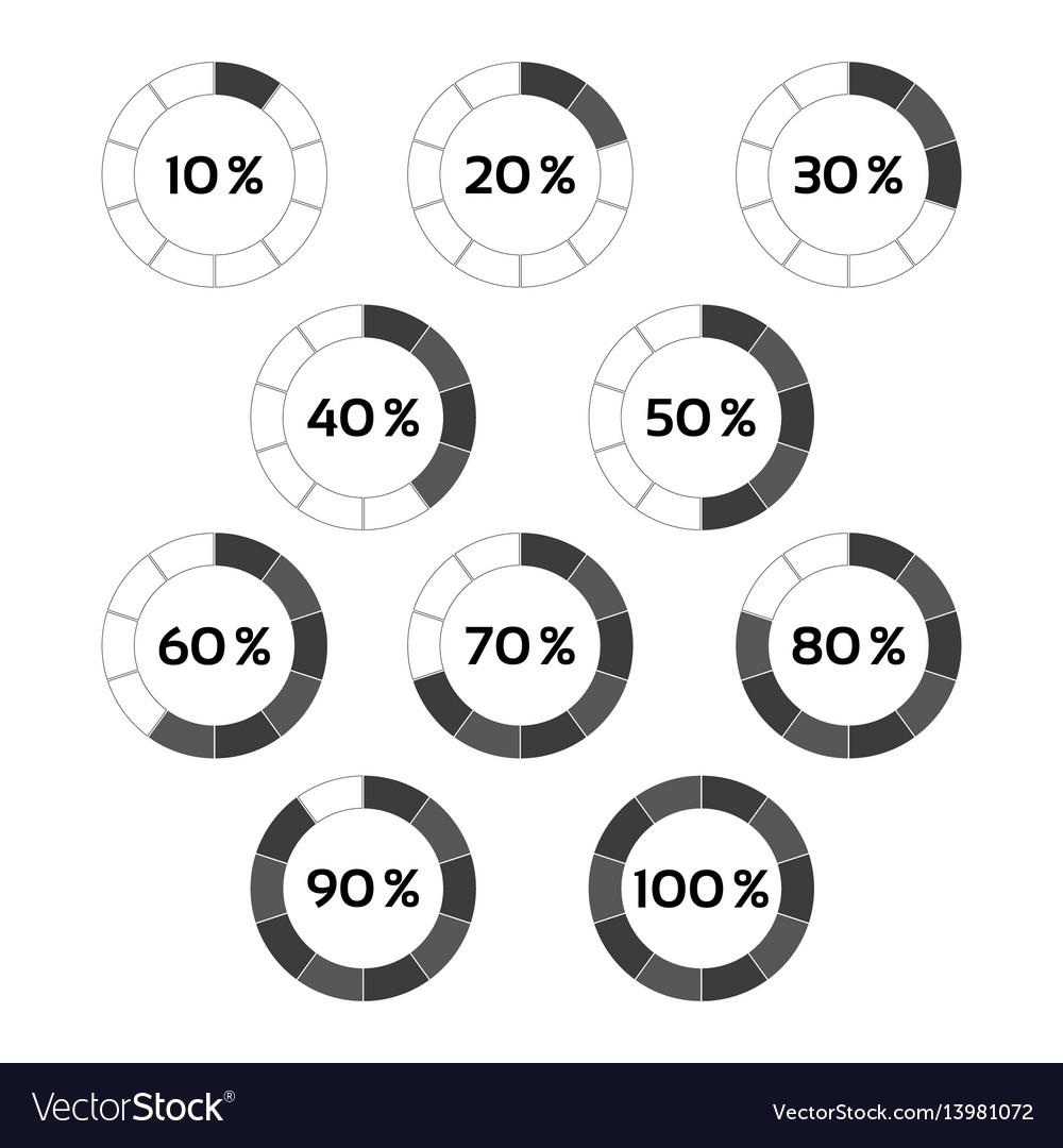 Circle diagram ten steps percentage indicators