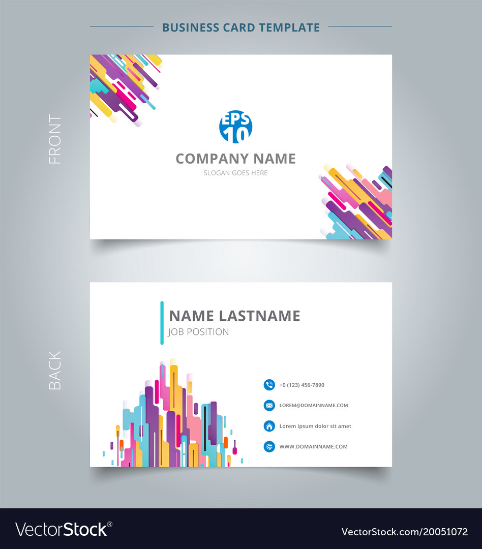 Creative business card and name card template vector image friedricerecipe Gallery