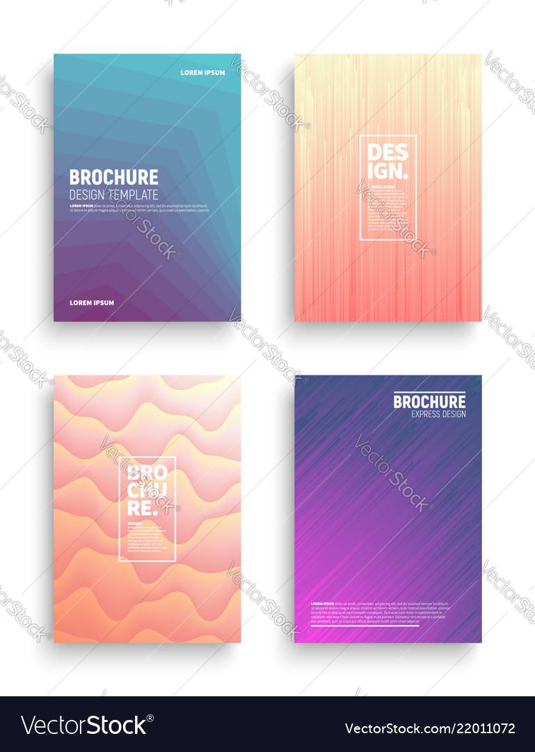 Different brochures design templates