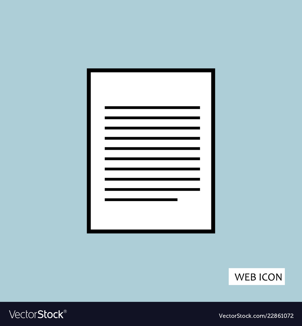 Document icon document icon eps10 document icon