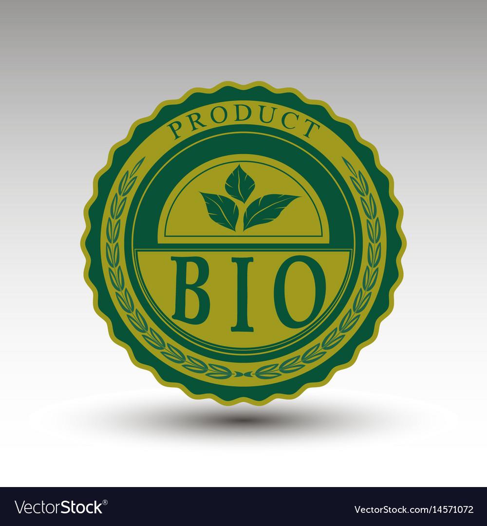 Emblem with bio text
