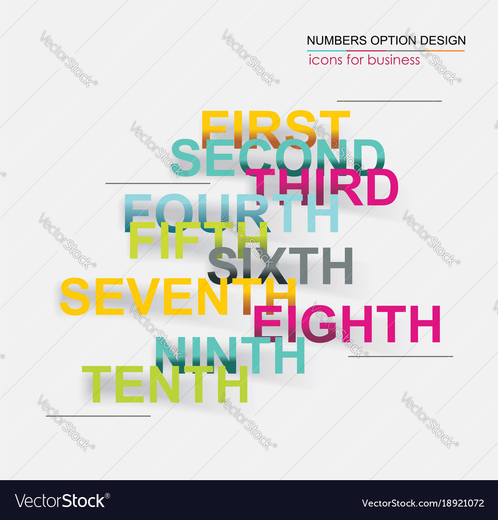 Infographics number options template