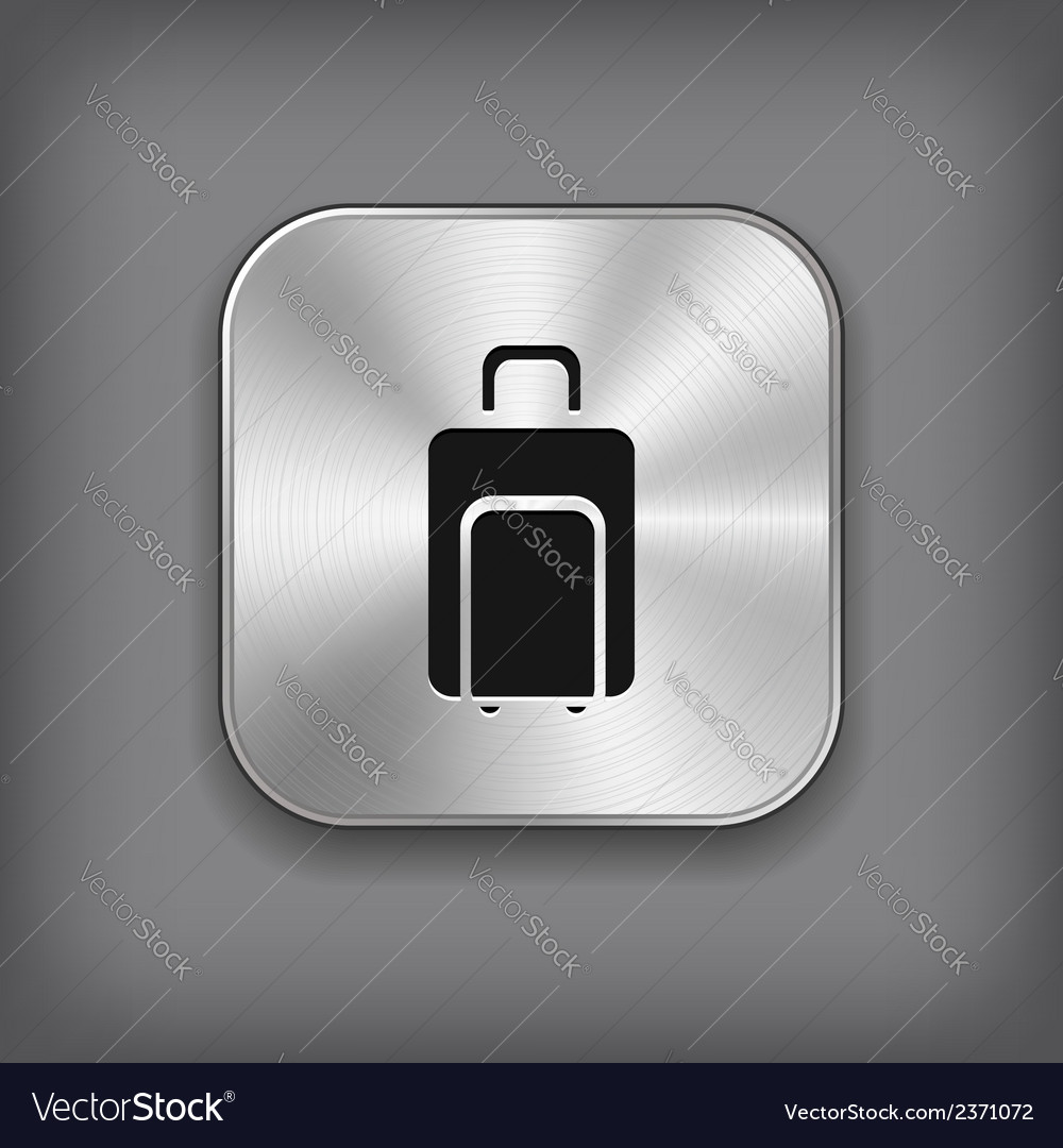 Luggage icon - metal app button