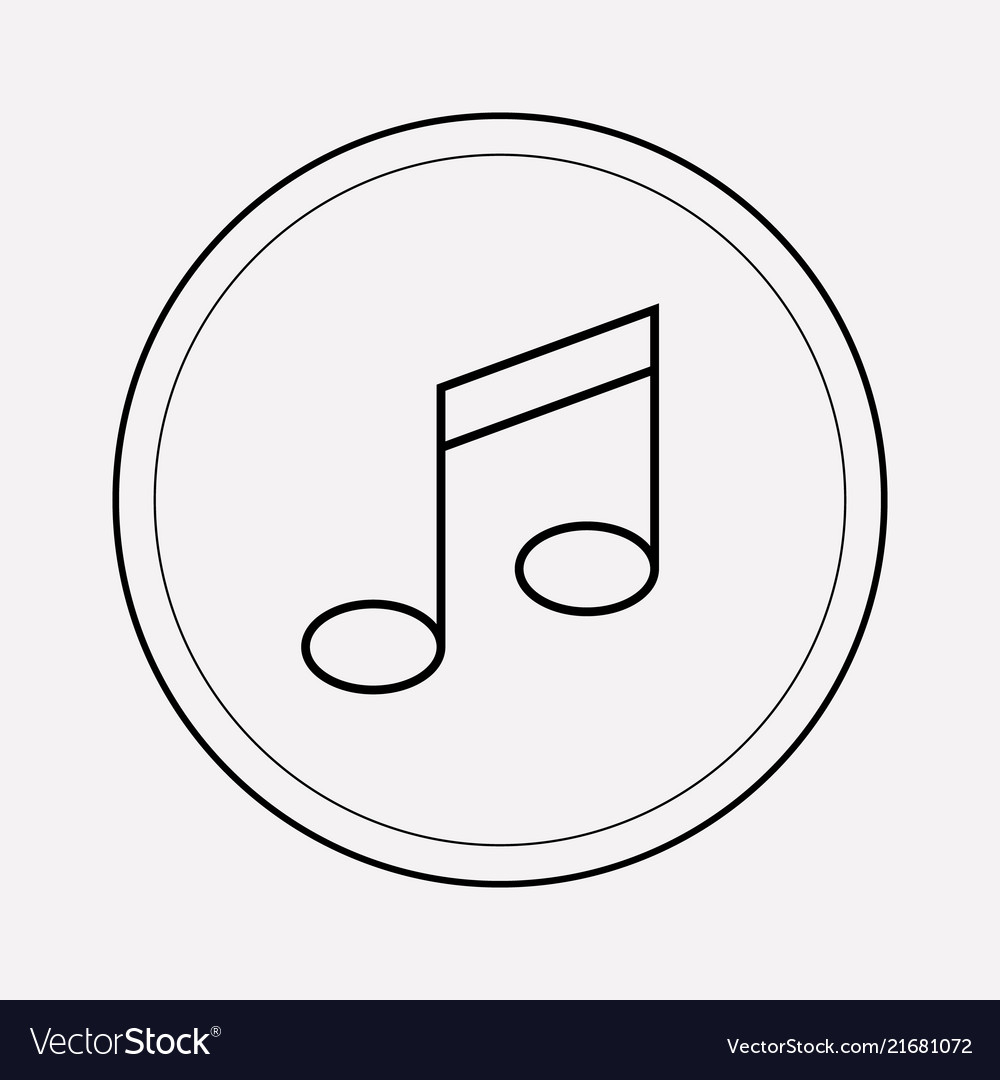 Music note icon line element