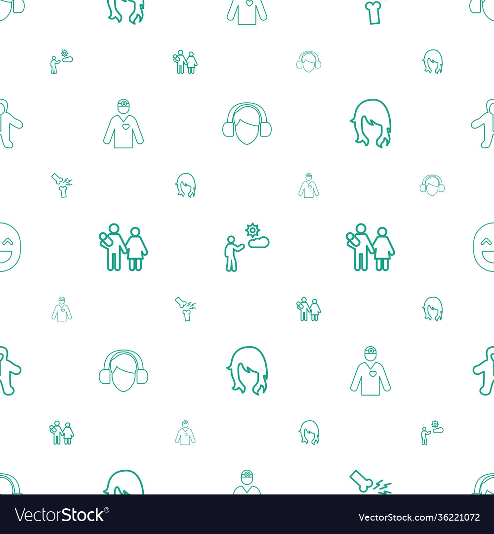 Person icons pattern seamless white background
