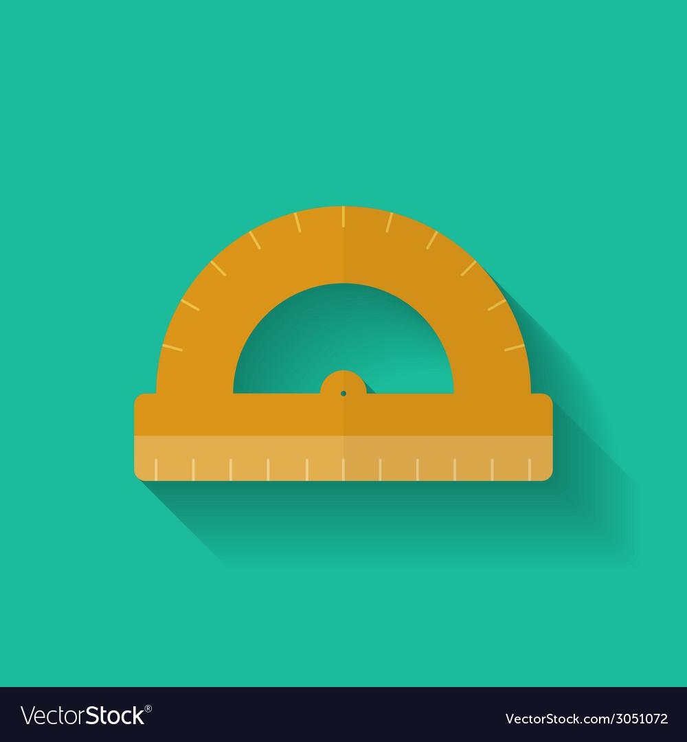 Protractor icon Flat style