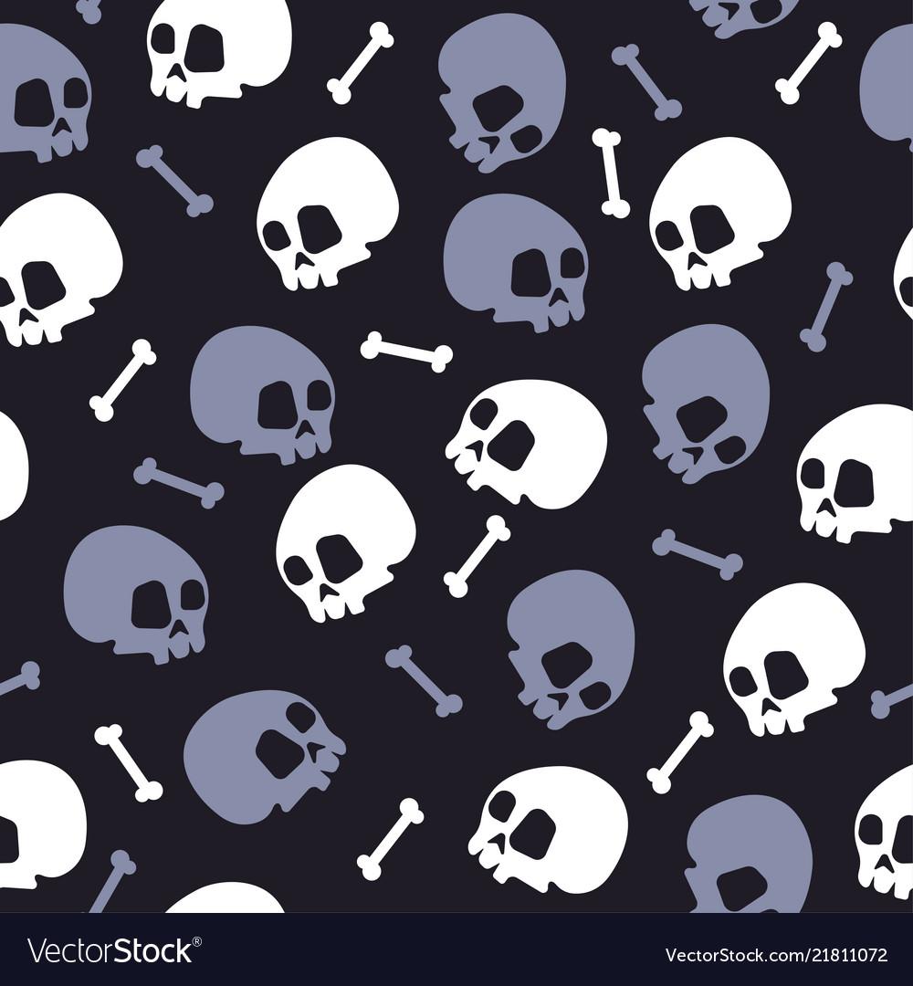 Skull bones halloween pattern bckg dark