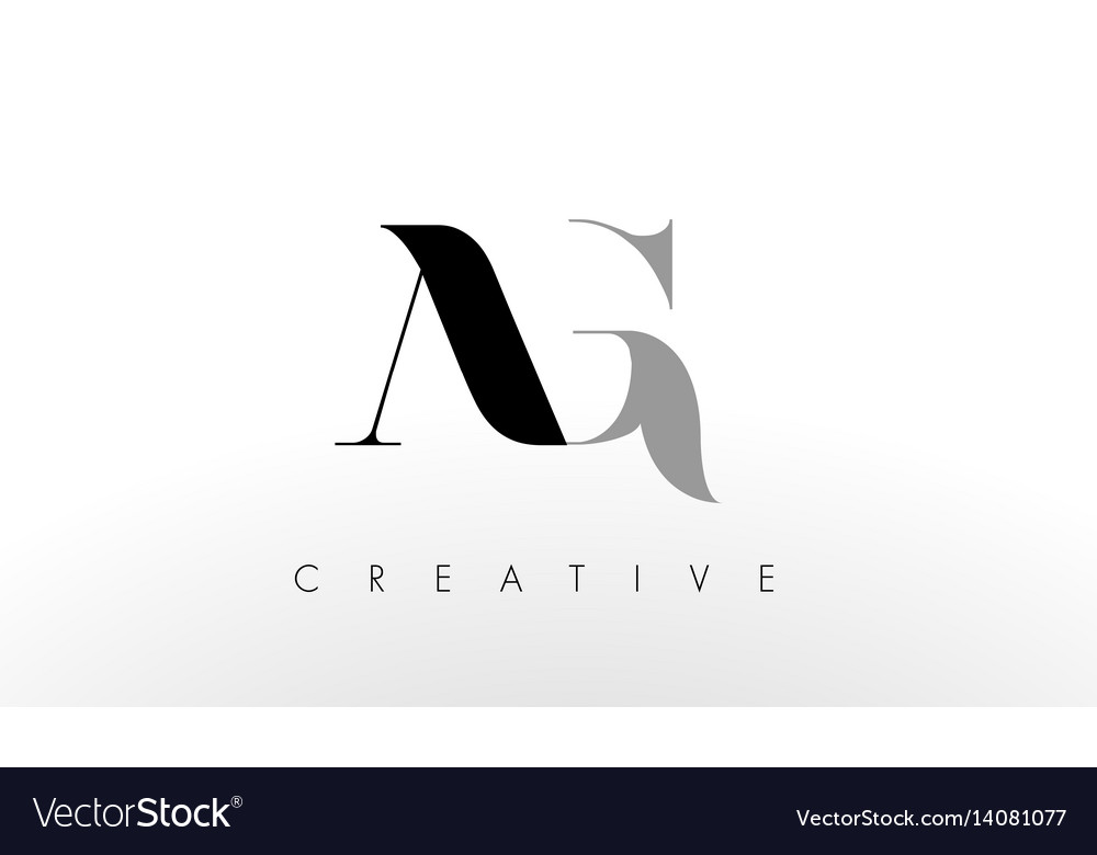 A G Letter Logo Design Creative Ag Letters Icon Vector Image