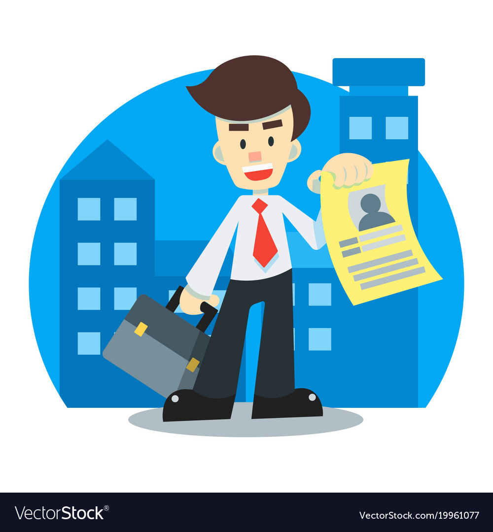 Applicant Looking For A Job Royalty Free Vector Image