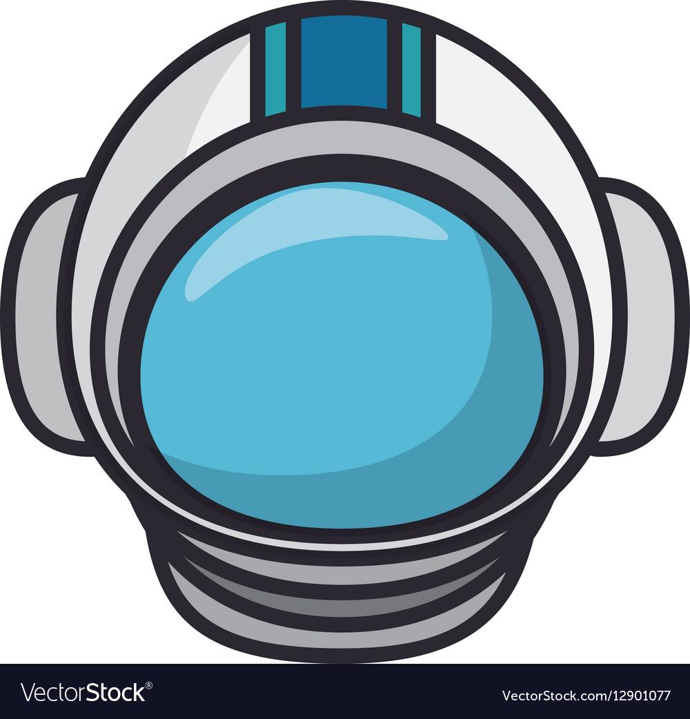 Astronaut helmet isolated icon