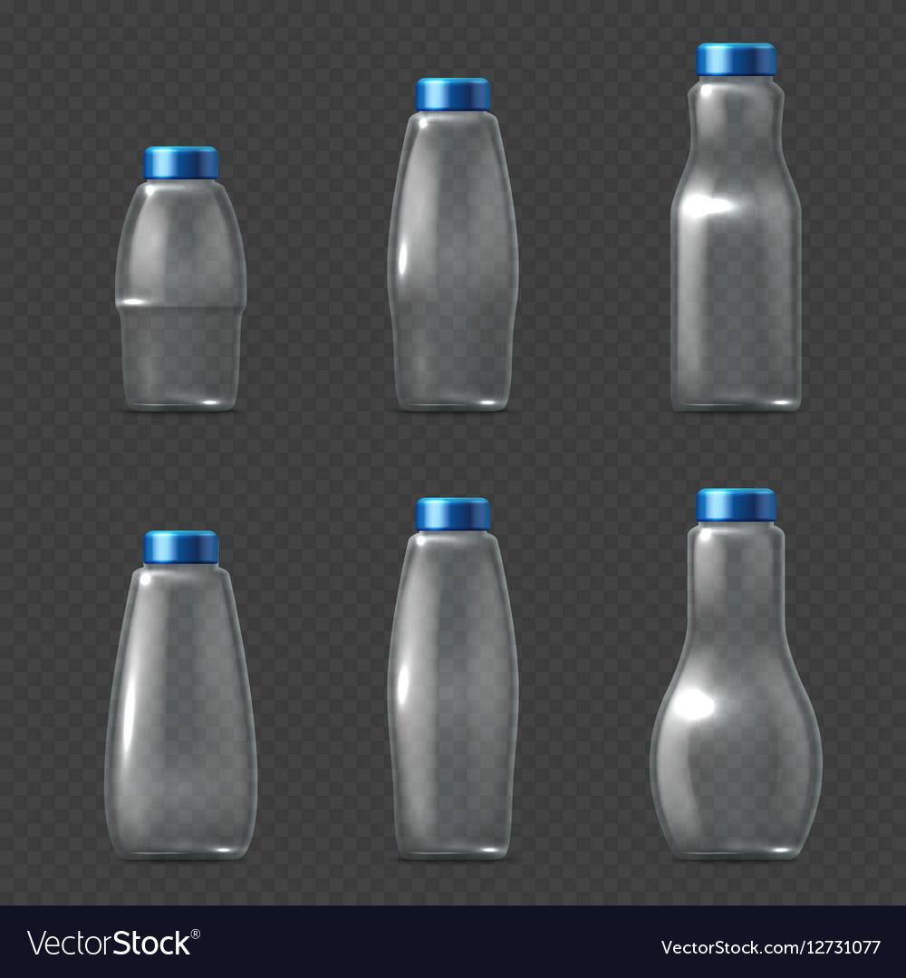 Empty glassware fragile packaging transparent vector image