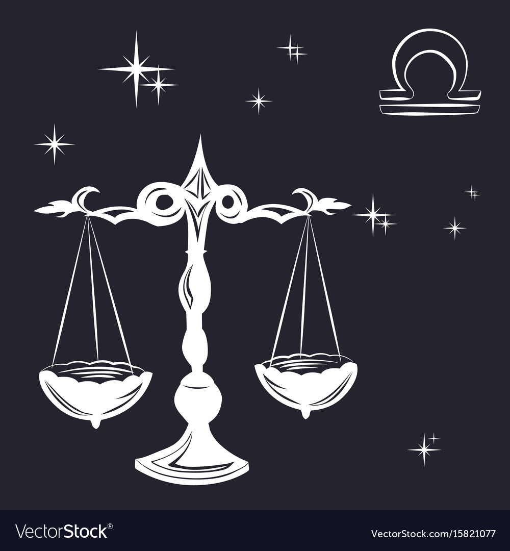 Sign of the zodiac libra is the starry sky vector image